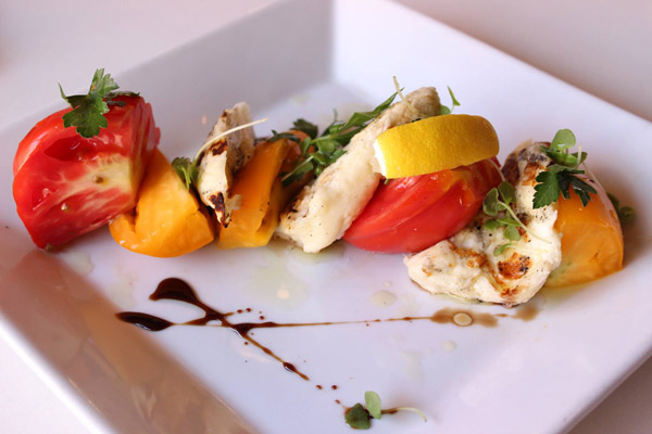 Tarla's Heirloom Tomato Salad with Halloumi Cheese