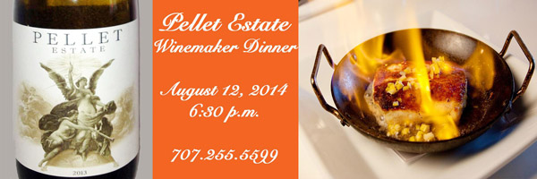 Tarla and Pellet Estate winemaker dinner